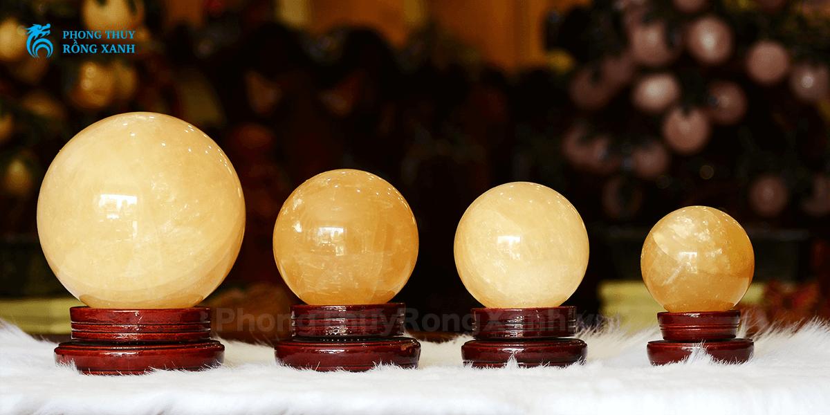 các kích thước quả cầu đá hoàng long