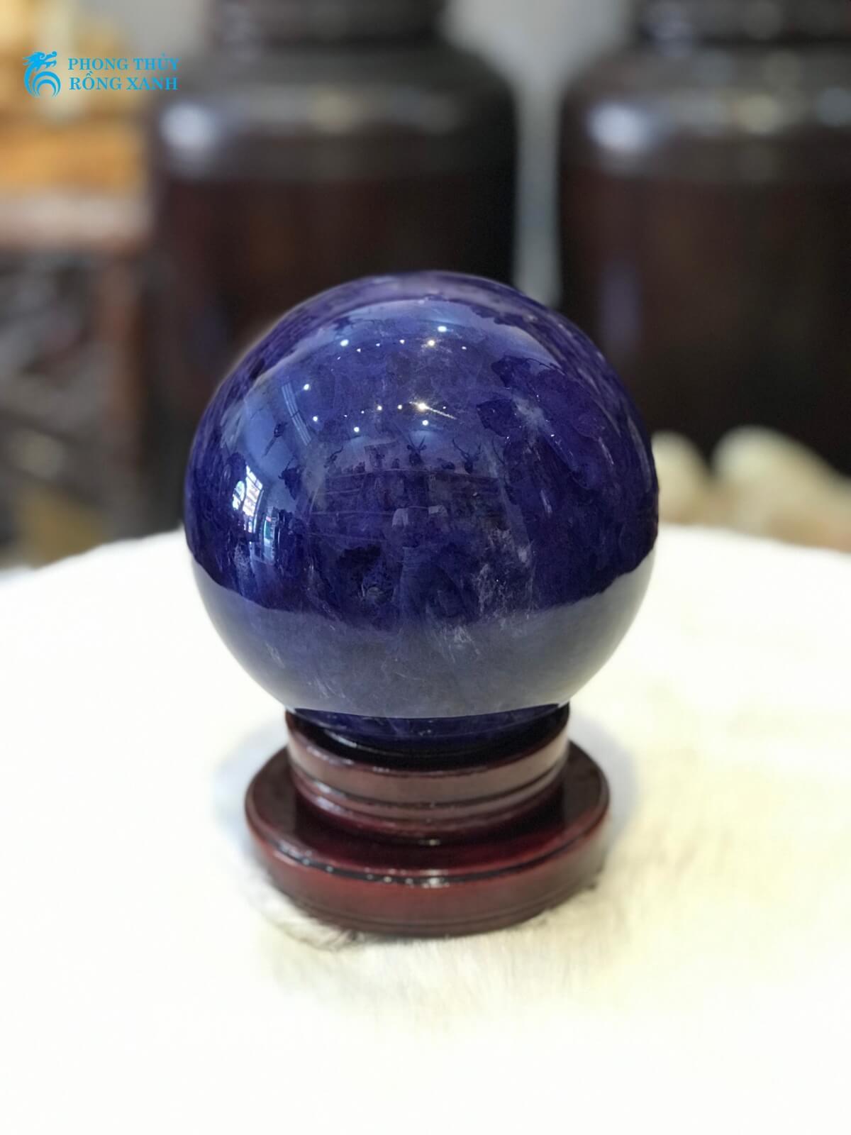 quả cầu phong thủy đá xanh hải dương